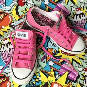 Converse Peace❤️& Rock n Roll canvas low sneakers